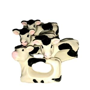 Other - 3 cow napkin rings